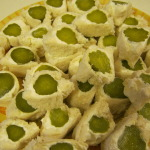 Appetizer for any occasion, cream cheese pickle wrap.
