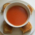 Grilled Cheese and tomato soup, gooey goodness.