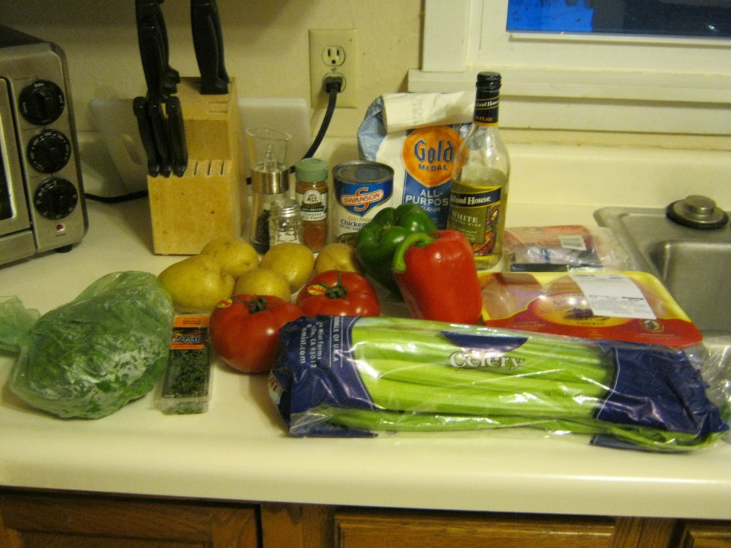 Chicken Basque Ingredients
