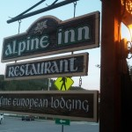 Sign for the Alpine Inn