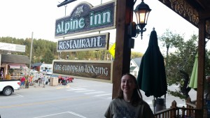 Alpine Inn sign with me