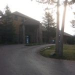 The front of Sylvan Lake Lodge