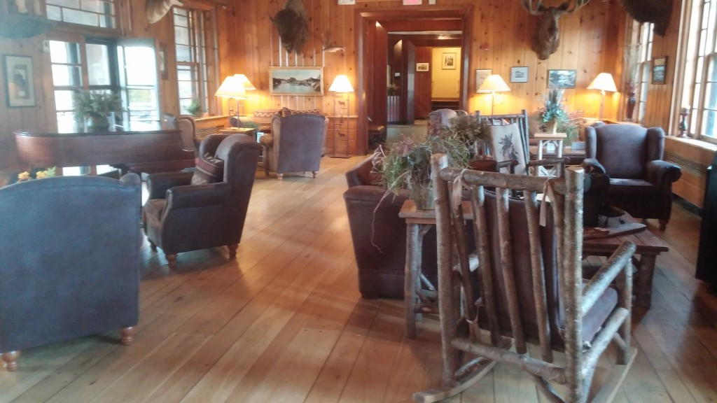 seating at Sylvan Lake Lodge