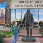 Buffalo Bill statue outside of the Buffalo Bill Historical Museum