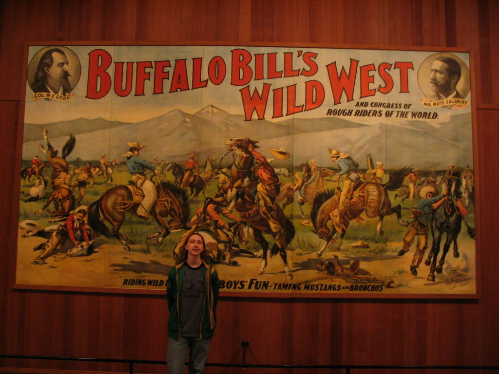 A sign for Buffalo Bills Wild West show