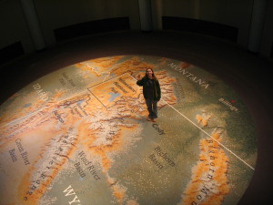 Large map with Cody Wyoming on it.