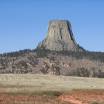2006 devil's tower view from road
