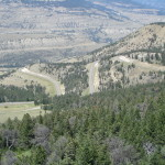 A view of the upcoming roads on Beartooth Pass