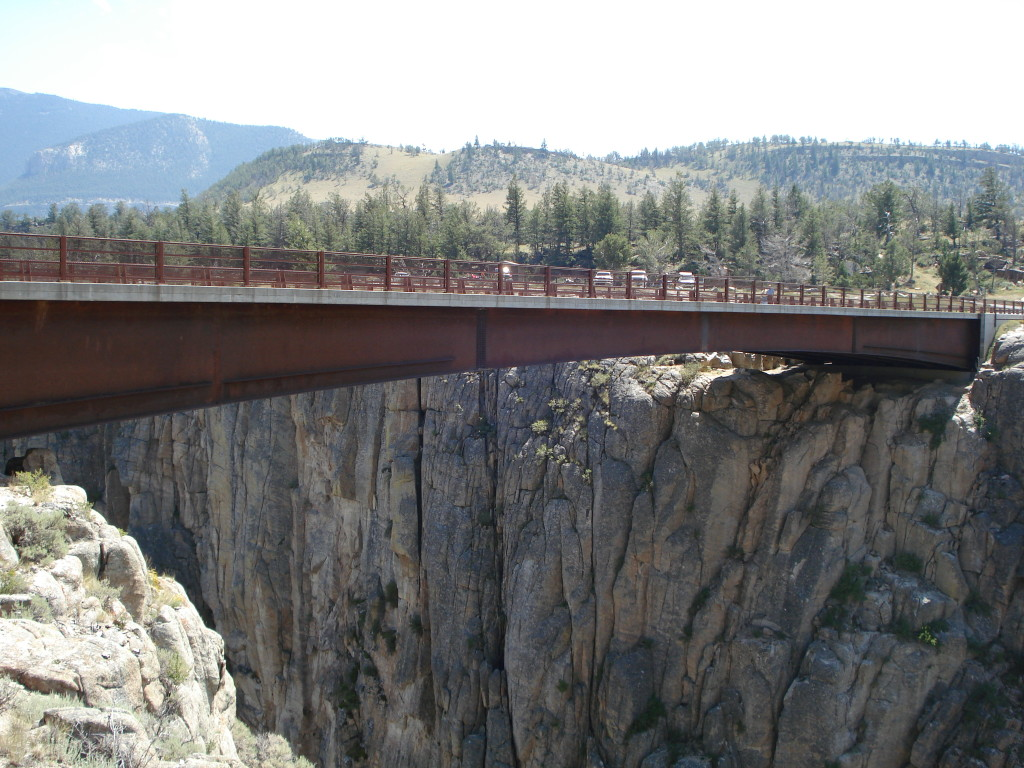 The bridge on Beartooth Pass