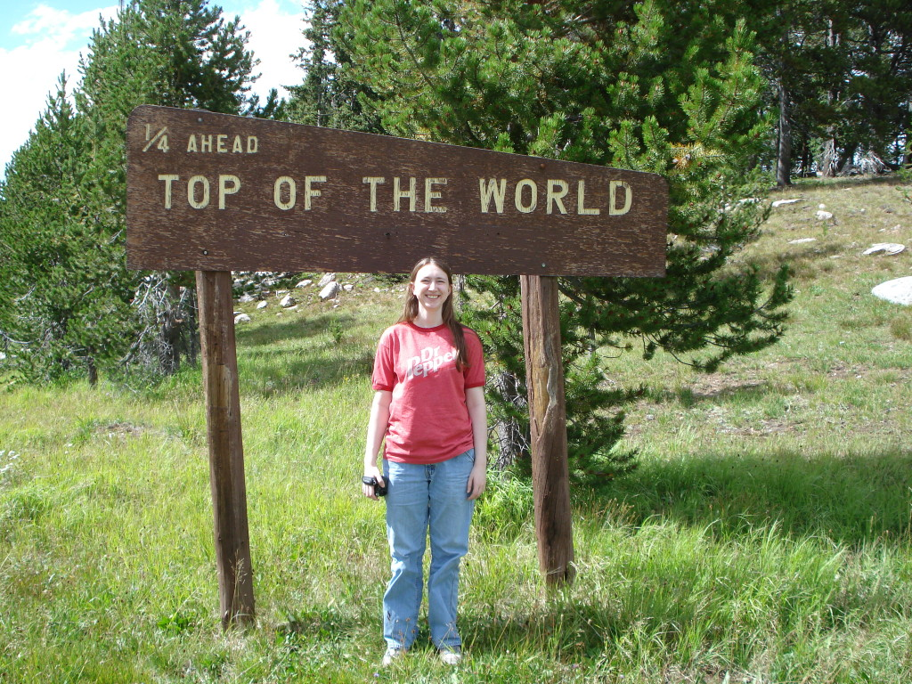 Sign for the top of the world
