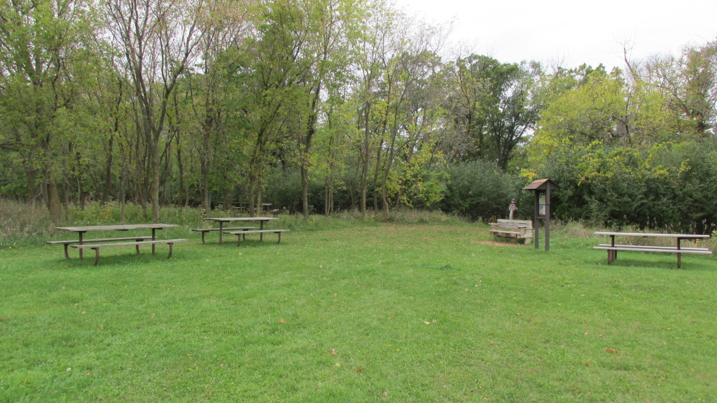 picnic tables at Afton Park