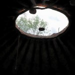 The skylight of the yurt
