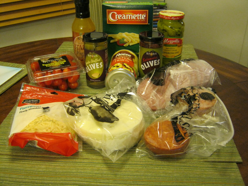 Ingredients for antipasto