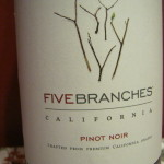 Five Branches wine label