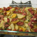 Grutin Potatoes and ham cooked