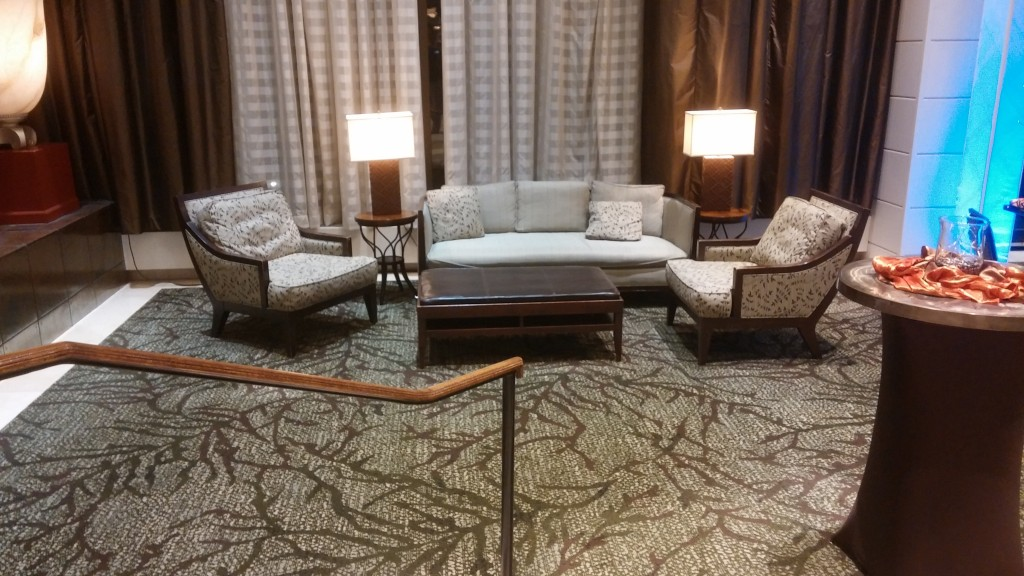 Hilton lobby seating area