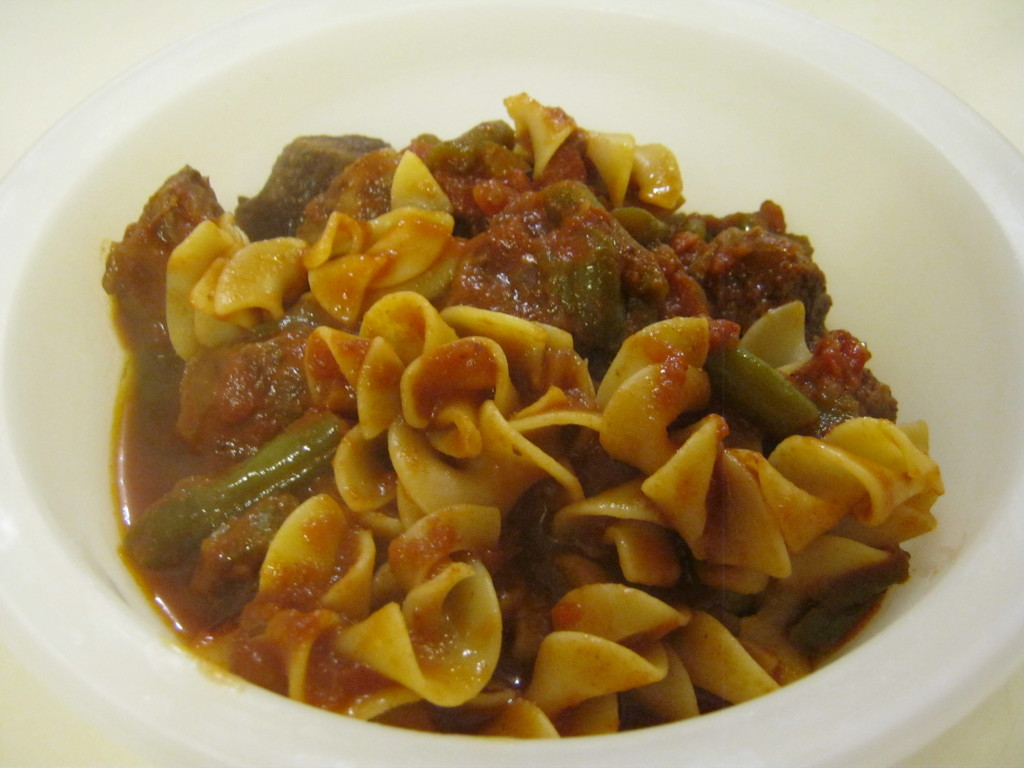 Hungarian Goulash dished
