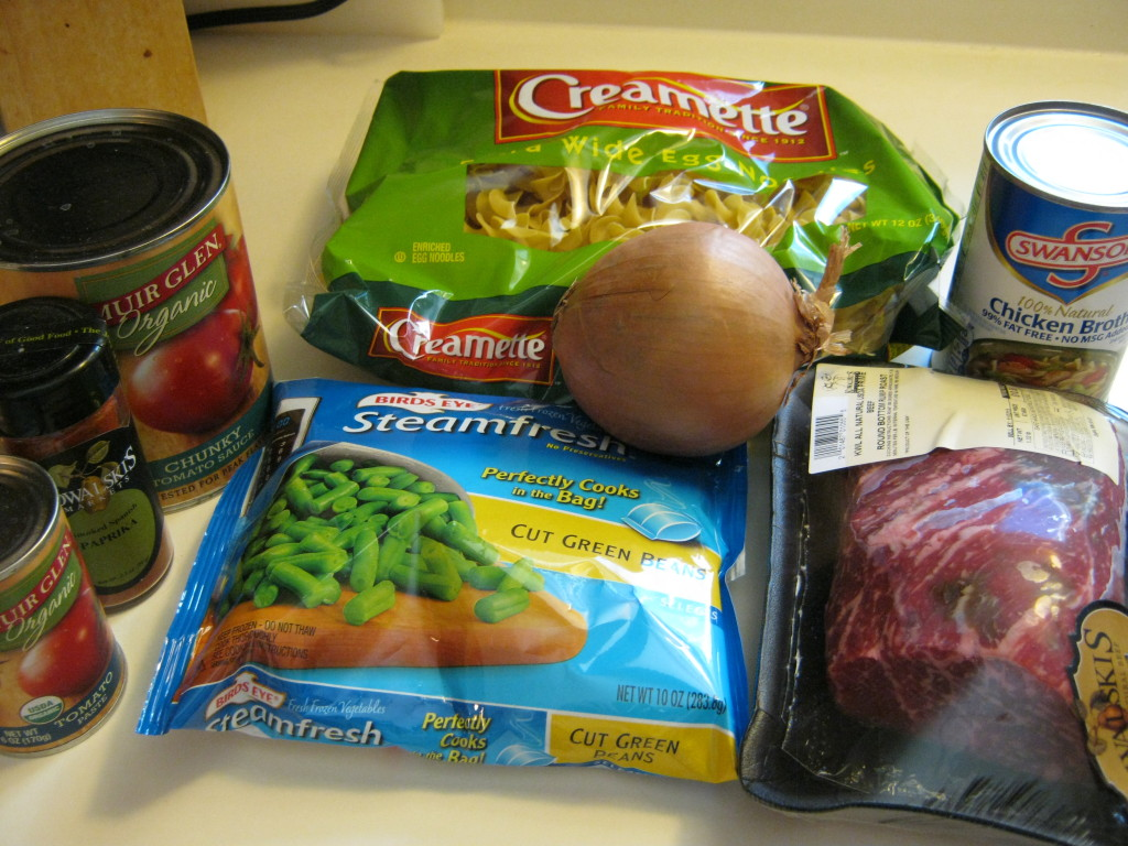 Ingredients for Hungarian Beef Goulash