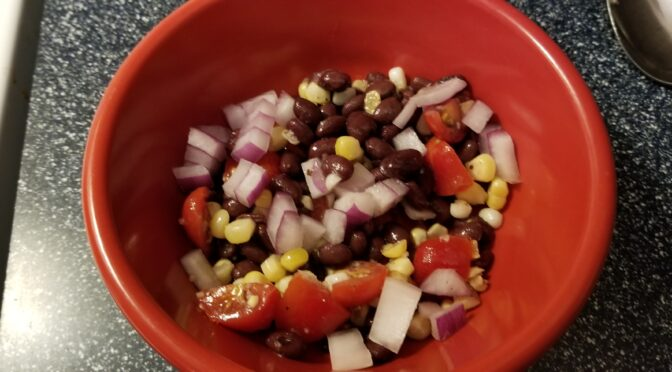 Black Bean, Corn, and Cherry Tomatoes